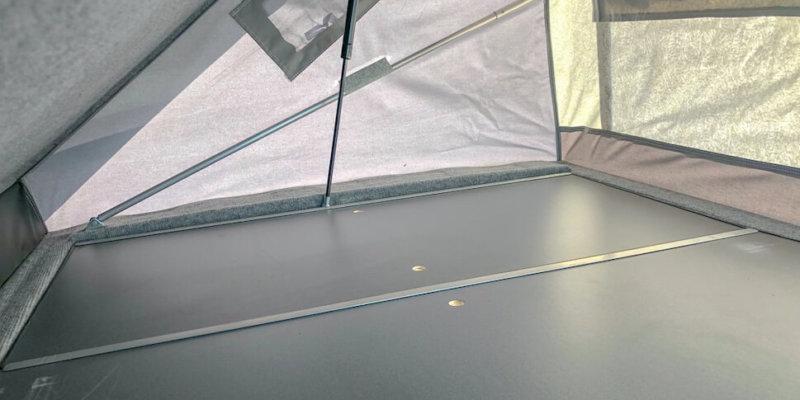 Volkswagen Camping Van Sleeping area.
