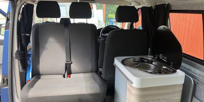 Volkswagen camping van rotating double seat.